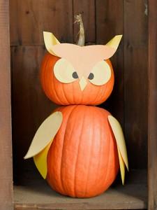 Calabaza búho para Halloween